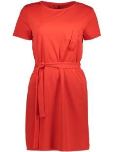 Only Jurk onlJOANA S/S POCKET DRESS JRS 15153475 Flame Scarlet
