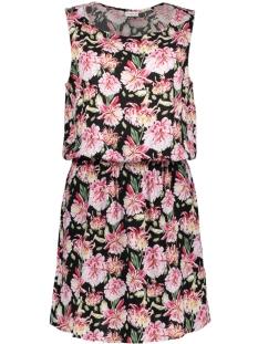Jacqueline de Yong Jurk JDYVICTORY S/L DRESS WVN 15150050 Black/PINK FLOWE
