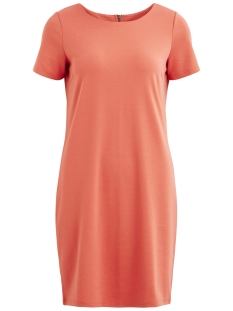 Vila Jurk VITINNY NEW S/S DRESS - FAV 14044396 Spiced Coral