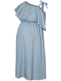 Mama-Licious Positie jurk MLNESLI S/L WOVEN ABK DRESS 20008379 Light Blue Denim