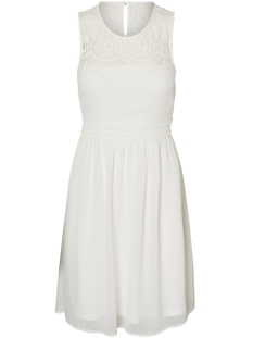 Vero Moda Jurk VMVANESSA SL SHORT DRESS NOOS 10193196 Snow White