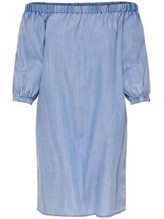 Only Jurk onlJANICE OFF SHOULDER  DNM  DRESS 15150146 Light Blue Denim