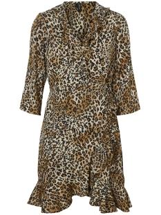 Vero Moda Jurk VMHENNA 3/4 WRAP DRESS NOOS 10199189 Black/LEO PRINT