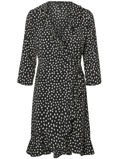Vero Moda Jurk VMHENNA 3/4 WRAP DRESS NOOS 10199189 Black/EGGNOC DOT