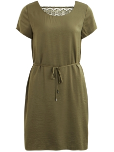 Vila Jurk VICAVA S/S  DRESS - NOOS 14045771 Ivy Green