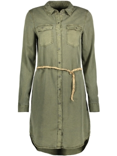 Vero Moda Jurk VMSAMMI LS SHIRT DRESS GA 10204467 Ivy Green
