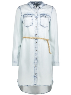 Vero Moda Jurk VMSAMMI LS SHIRT DRESS GA 10204467 Light Blue Denim