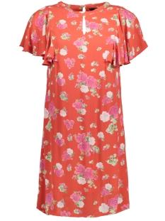 Vero Moda Jurk VMLILI MINI VISC S/S SHORT DRESS D2 10197799 Poppy Red/LILI MINI