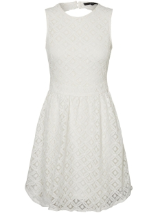 Vero Moda Jurk VMSIMONE LACE S/L SHORT DRESS NOOS 10199210 Snow White