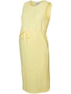 Mama-Licious Positie jurk MLMALENE S/L  SHORT JERSEY DRESS V 20008468 Lemonade