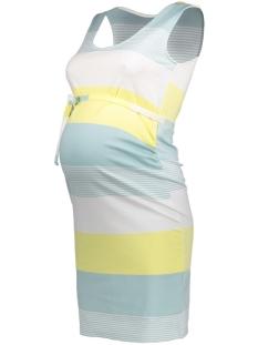 Mama-Licious Positie jurk MLBLACKIE S/L JERSEY DRESS 20007451 Blue Haze/MULTI COLOR