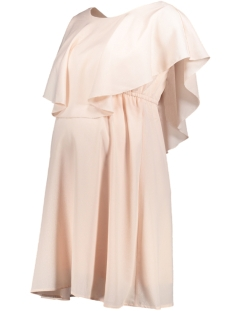 Mama-Licious Positie jurk MLKENA JUNE S/L WOVEN SHORT DRESS N 20008384 Peach Blush
