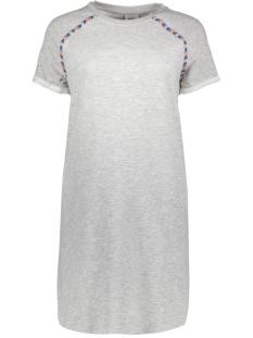 Only Jurk onlAMBER S/S DRESS SWT 15156184 Light Grey Melange