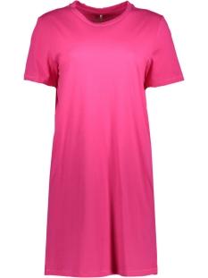 Only Jurk onlJUNE S/S DRESS BOX JRS 15152567 Pink Peacock
