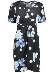 Vero Moda Jurk VMDELLY ABK S/S WRAP DRESS D2-2 10198774 Black/Flower