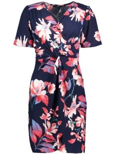 Vero Moda Jurk VMDELLY ABK S/S WRAP DRESS D2-2 10198774 Night Sky/AOP FLOWER