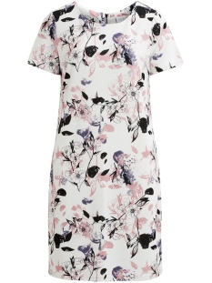 Vila Jurk VITINNY NEW S/S DRESS - LUX  14045885 Cloud Dancer/VIMALIK
