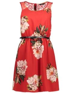 Only Jurk onlJULIE S/L LIA LACE SHORT DRESS W 15144511 Flame Scarlet/FLOWER PRI