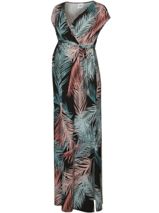 Mama-Licious Positie jurk MLPALMS S/L JERSEY MAXI DRESS A.  20008411 Strawberry Ice/MULTI COLO