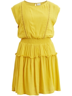 Vila Jurk VIESTRELLA S/L DRESS  14048910 Spicy Mustard
