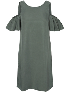 Noisy may Jurk NMHAYLIE OPEN SHOULDER TENCEL DRESS 27001616 Duck Green