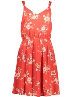 Only Jurk onlKARMEN S/L SHORT DRESS AOP WVN NOOS 15157655 High risk red