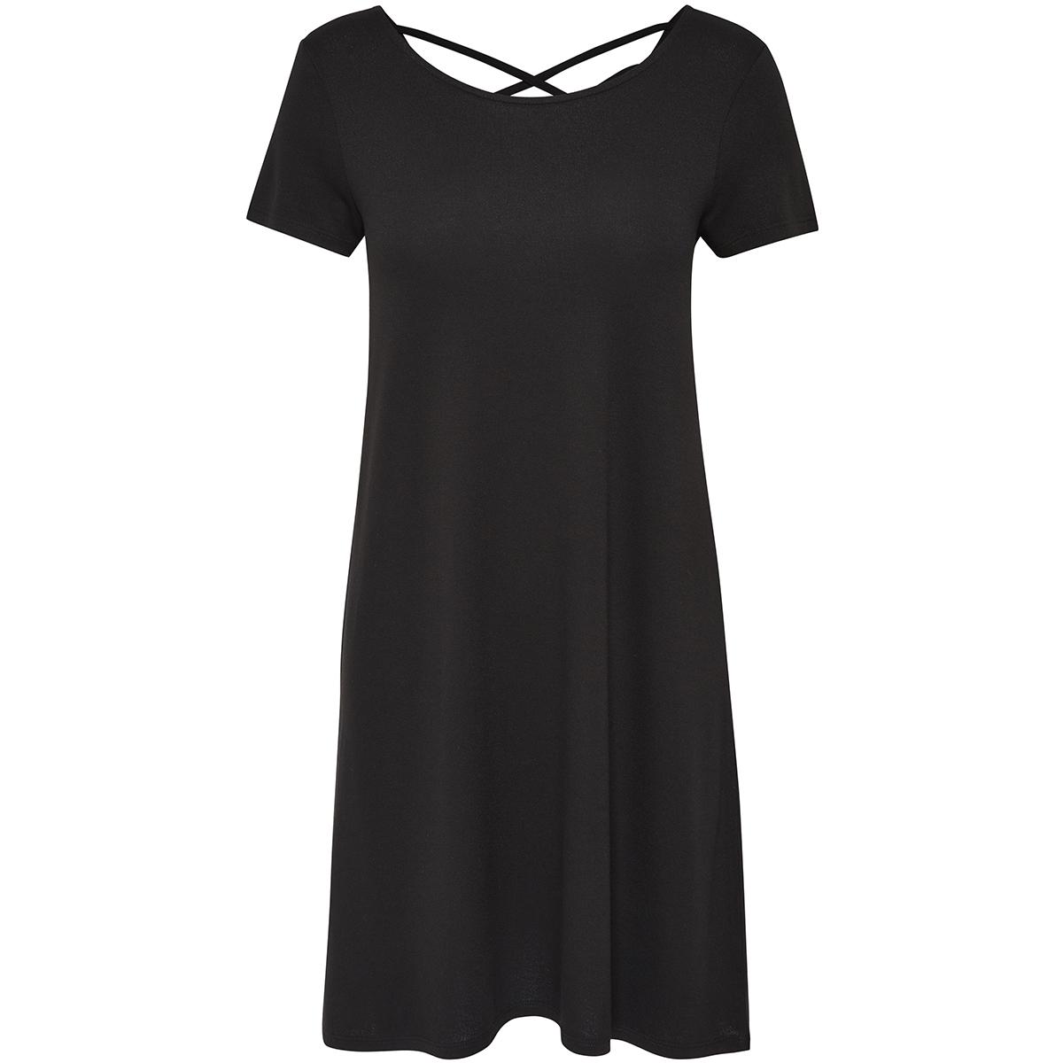 onlbera back lace up s/s dress jrs 15131237 only jurk black
