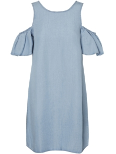 Noisy may Jurk NMHAYLIE OPEN SHOULDER TENCEL DRESS 27001616 Light Blue Denim
