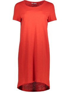 Pieces Jurk PCMESSLI SS DRESS 17083890 Flame Scarlet