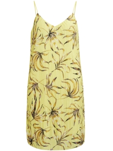 Vila Jurk VISOLANA SHORT STRAP DRESS 14046741 Yellow Iris