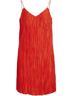 Vila Jurk VISOLANA SHORT STRAP DRESS 14046741 Orange Com