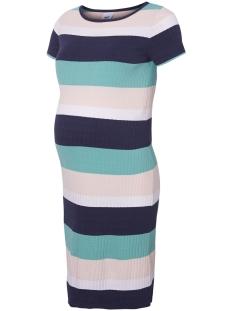Mama-Licious Positie jurk MLAURA S/S ABK DRESS A. 20008599 Black Iris/Y/D