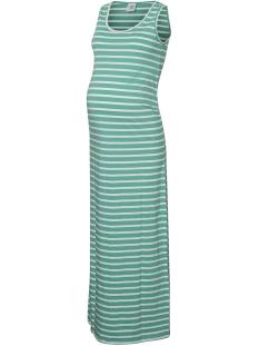 Mama-Licious Positie jurk MLLEA ORGANIC Y/D TANK MAXI DRESS A 20007227 Marine Green/SNOW WHITE