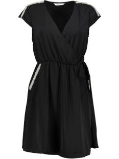 Only Jurk onlSCARLETT 2/4 WRAP DRESS WVN 15155093 Black