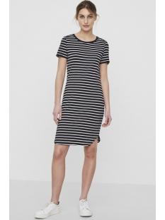 nmsummer s/s  stripe dress noos 27002824 noisy may jurk black/snow white