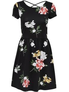Only Jurk onlDALIA S/S NIELLA DRESS JRS 15159166 black/FLOWER