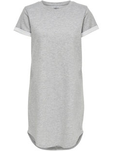 Jacqueline de Yong Jurk JDYCHILA S/S SWEAT DRESS SWT 15152359 Light Grey Melange