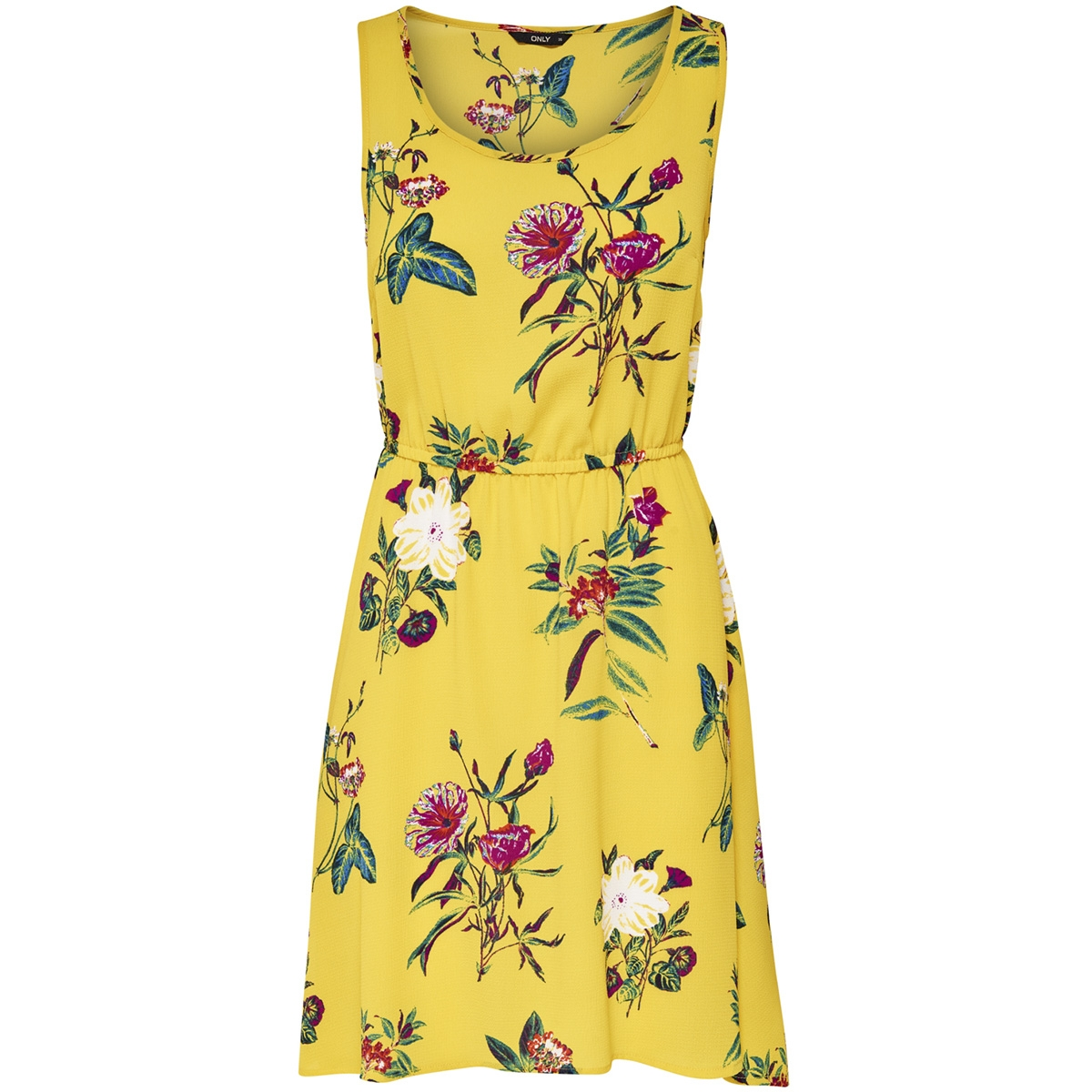 onlnova aop s/l sarah  dress lux wv 15158092 only jurk york yellow/amelo flow