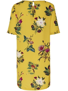 onlnova tee dress aop lux wvn 15158116 only jurk york yellow/amelo flow