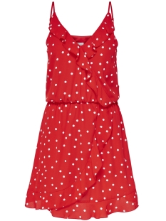 Only Jurk onlRUBBI STRAP WRAP DRESS WVN 15156590 Flame scarlet