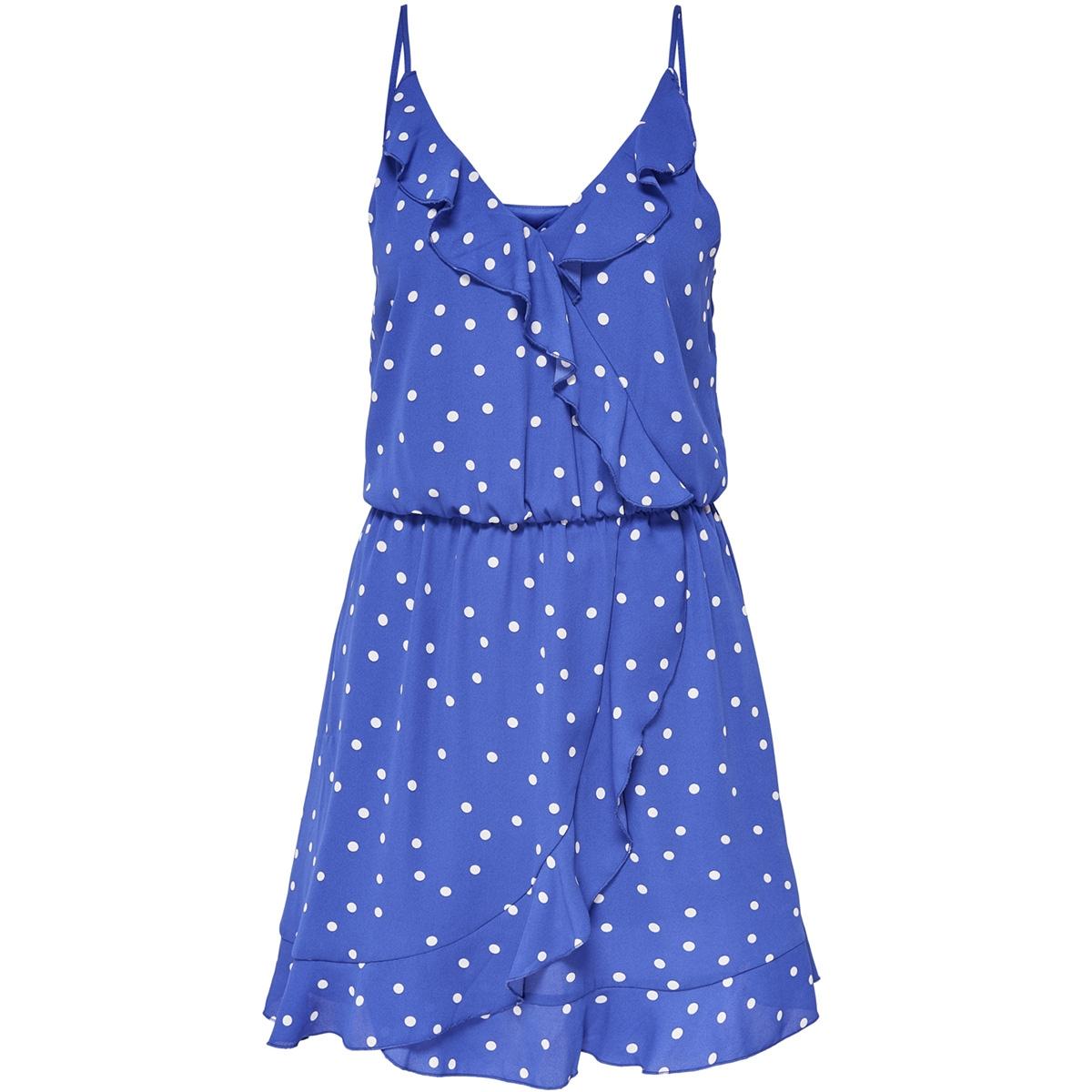 onlrubbi strap wrap dress wvn 15156590 only jurk dazzling blue/sunset