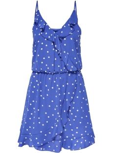 Only Jurk onlRUBBI STRAP WRAP DRESS WVN 15156590 Dazzling Blue/Sunset