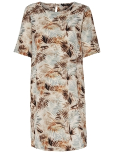 Only Jurk onlNOVA TEE DRESS AOP LUX WVN 15158116 Cloud Dancer/SUMMER LEAF