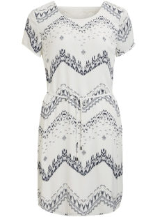 Vila Jurk VICAVA S/S  DRESS - FAV 14045946 Cloud Dancer/VIMARULA