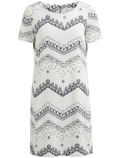Vila Jurk VITINNY NEW S/S DRESS - LUX 14045885 Cloud Dancer/VIMARULA