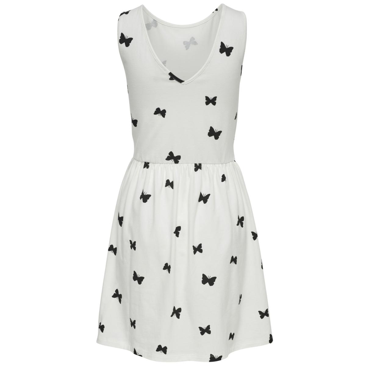 onlniella s/l dress jrs 15169518 only jurk cloud dancer/black butt