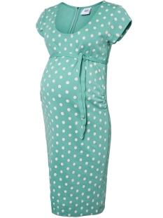 Mama-Licious Positie jurk MLBLACKIE CAP SLEEVE JERSEY DRESS 20008867 Marine Green
