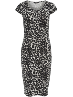 Only Jurk onlMALLIKA CAPSLEEVE LEO DRESS JRS 15169803 Black/LEO