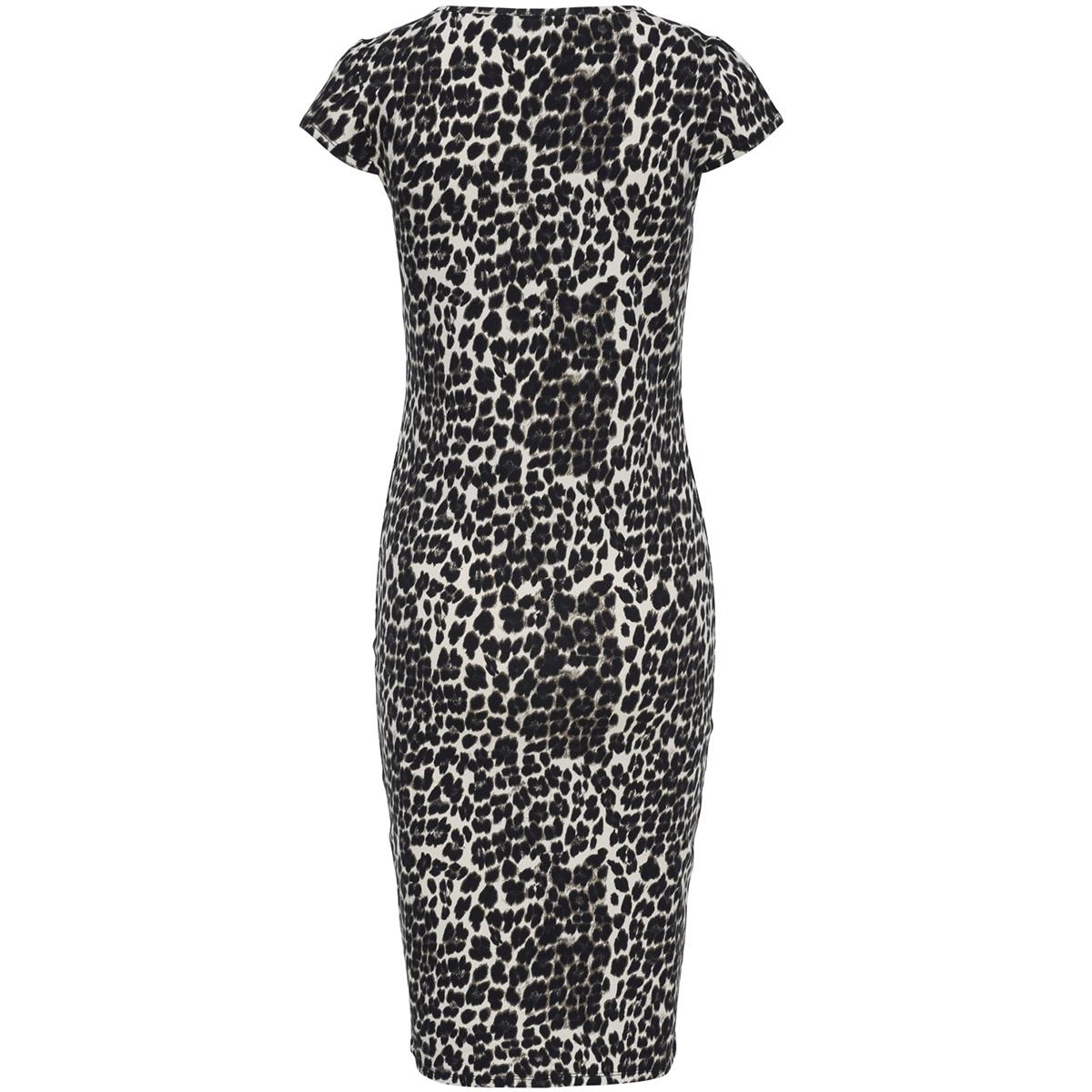 onlmallika capsleeve leo dress jrs 15169803 only jurk black/leo
