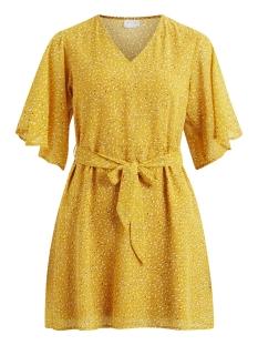 Vila Jurk VITAJRA S/S DRESS 14049215 Spicy Mustard